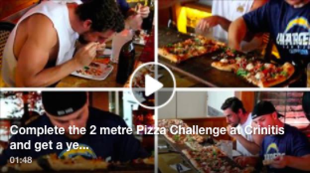 Criniti's Manly: 2 metre pizza challenge