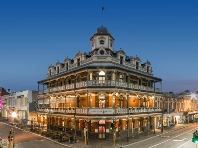 Fremantle's National Hotel: New rooftop bar, Art Exhibits & a historic look back