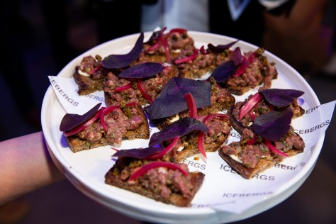 Bruschetta with Beef Tartare, Pickled Red Onions & Fried Capers_White Walker by Johnnie Walker Launch_Icebergs_Wed 5 Dec_Yasmin Mund