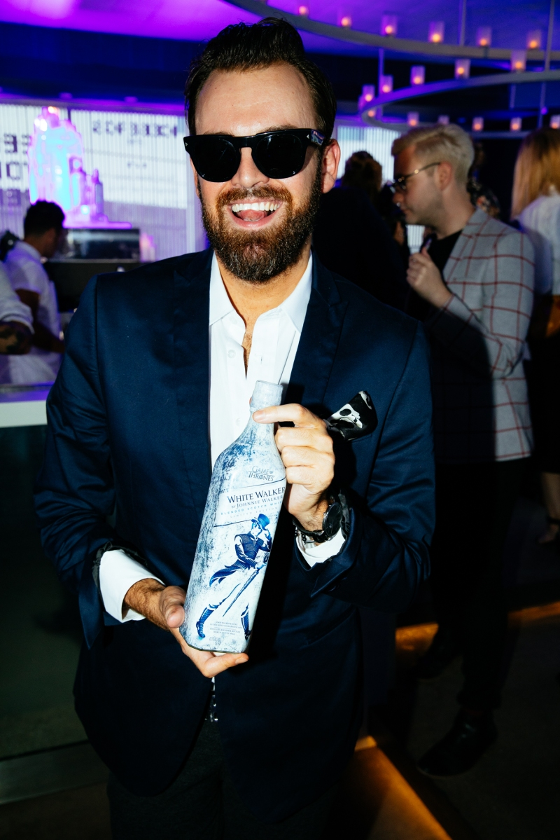 Christopher Haggarty attends the icy cool launch of White Walker by Johnnie Walker at Icebergs, Bondi Wed 5 Dec_Credit Jack Bennett