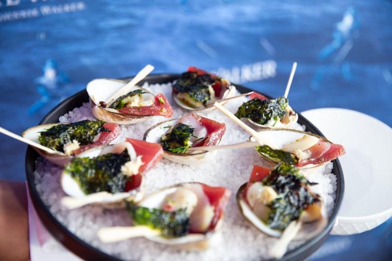 Salad of Clam, Scallop & Tuna with Fennel & Seaweed_White Walker by Johnnie Walker Launch_Bondi Icebergs_Wed 5 Dec_Credit Yasmin Mund