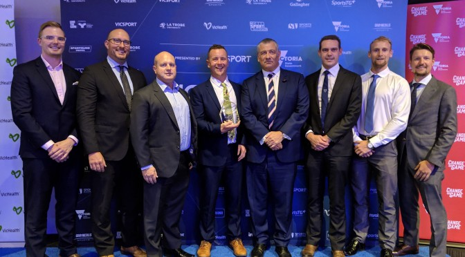 World-first research wins Erik Denison the inclusion award at 2019 VicSport Awards