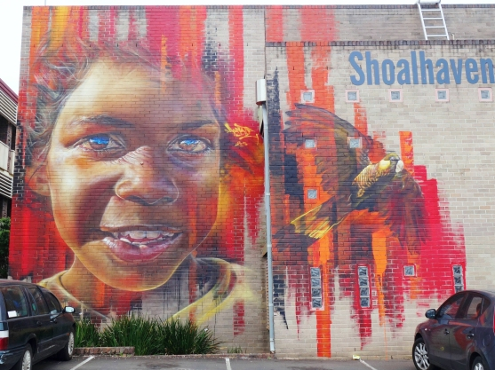 Adnate mural Nowra library
