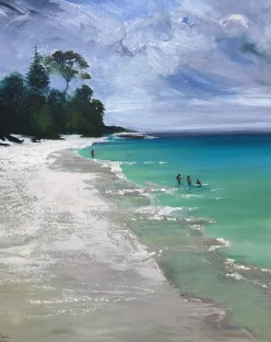 Morning Paddle at Hyams Beach by Kathy Karas