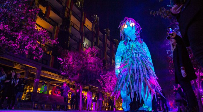 The tallest puppet in Australia at Barangaroo this weekend for Vivid Sydney!