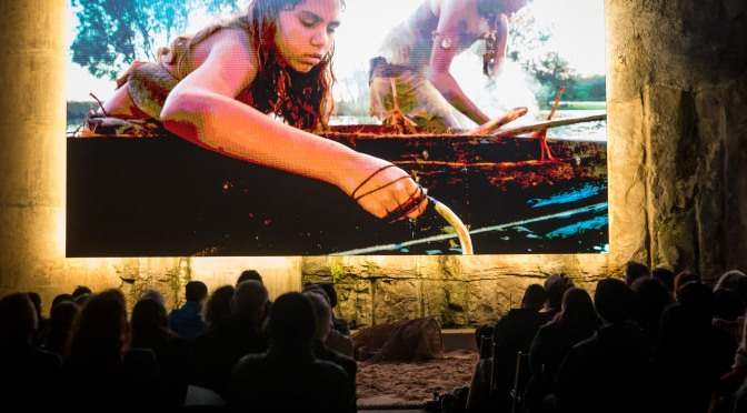 Wellama: The 32 square metre video installation at Barangaroo