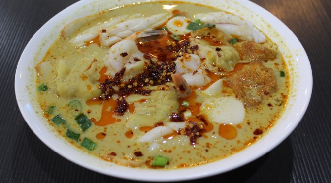 Quick and easy low-budget soups and laksas:  Meat or Seafood laksa?