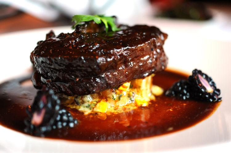 """Filet with Blackberry Zinfandel Sauce"", Napa Rose, Disney's Grand Californian Resort"