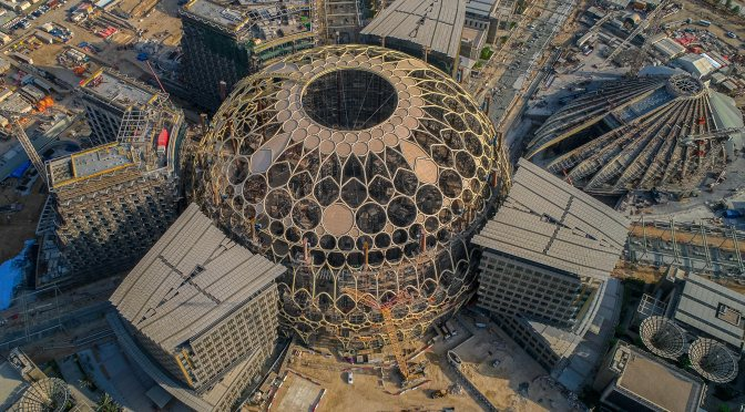 The crowning dome of World Expo 2020