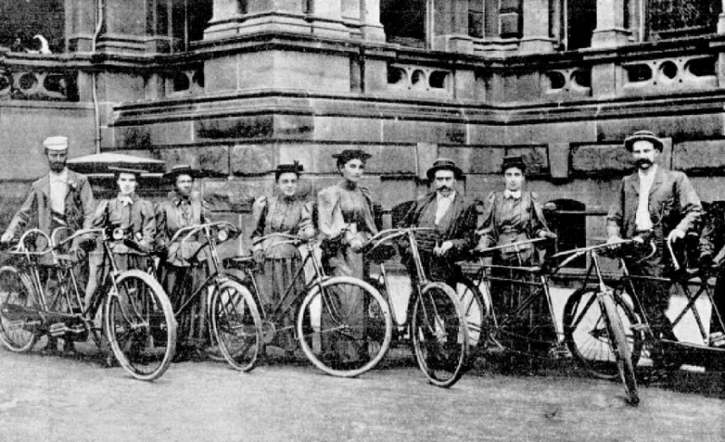 First_Ride_of_the_Sydney_Ladies_Cycling_Club_-_Sarah_is_4th_from_the_right_and_her_husband_Ernest_standing_next_to_her