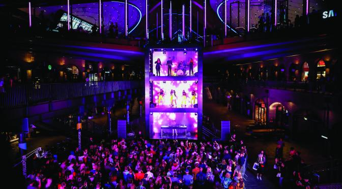 Taking live entertainment to new heights – literally!   Samsung KX opens giving us a glimpse into the future…