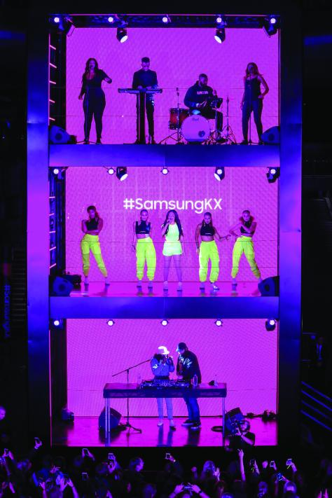 Samsung KX Celebrates Official Launch With World's First Vertical Stage Gig